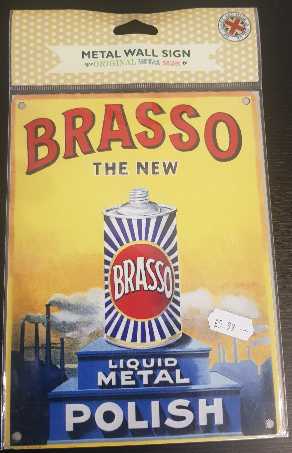 Metal Sign 'Brasso'