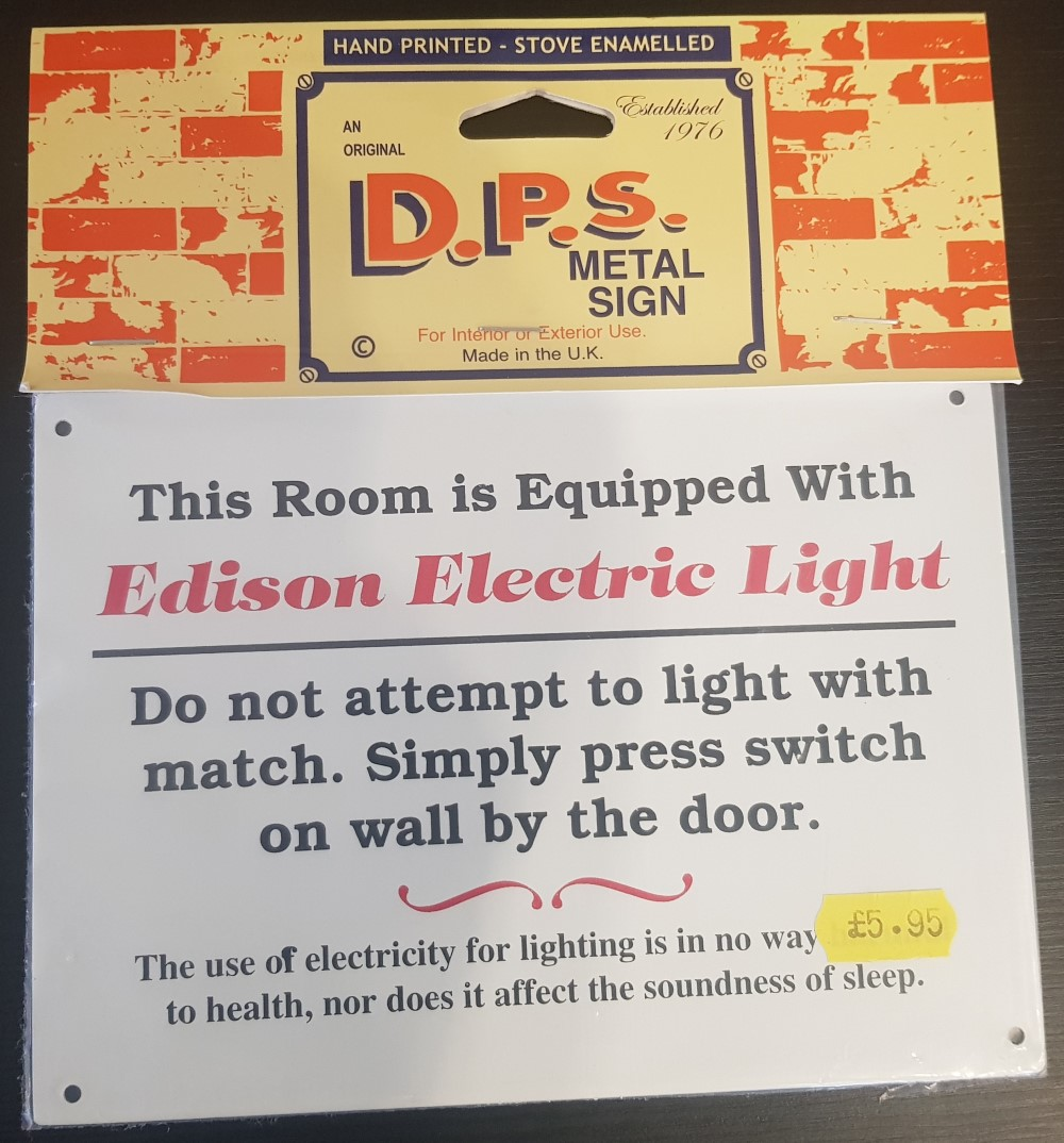 DPS Sign 'Edison Electric Light'