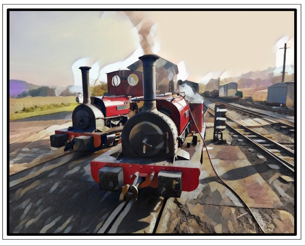 Poster: Early one April Morning – in the BLR Loco Yard