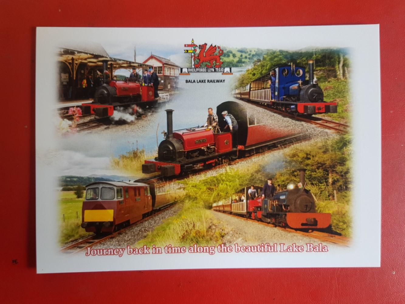Bala Lake Railway Montage Postcard